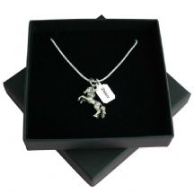 Loss of Horse, Sympathy Gift, Engraved Necklace